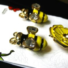 April 13 - something you found (pretty little bee charms to make into a charm bracelet!)  #photoadayApril with @fatmumslim