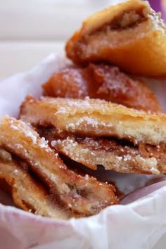 Deep Fried Peanut Butter and Jelly Sandwich add crunched frosted flakes...OMG the BOMB