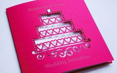 wedding invitation by infinity. wedding cake - personally engraved for you.