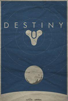 Destiny Minimalist Poster by Felix Tindall