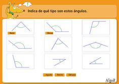 BANCO TIC | Clasificación de los tipos de ángulos ~ La Eduteca