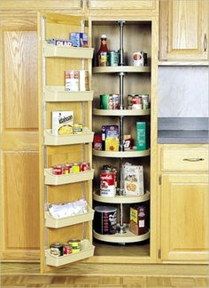 Enchanting Brown Light Color Kitchen Pantry Cabinet Round