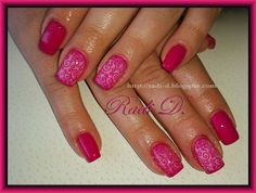 It`s all about nails: Magenta with Swirls http://radi-d.blogspot.com/2014/05/magenta-with-swirls.html