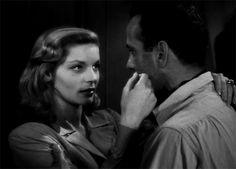 Lauren Becall and Humphrey Bogart