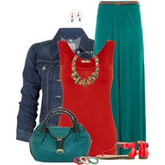 Red and teal