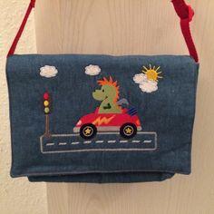 """Kindergartentasche""""Renndrache"""" von siebenbruecki auf DaWanda.com"""