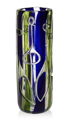 ** Vicke Lindstrand (Swedish, 1904-1983), Kosta, Engraved Glass Vase.
