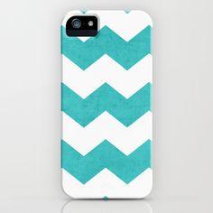 chevron - aqua iPhone & iPod Case by her art