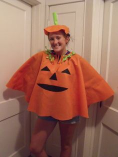 Inexpensive costumes in ALL sizes! Made to order from felt fabric. For best fit measure from wrist to wrist. Currently I have the Ghost and Pumpkin Poncho patterns. (Hat not included). Felt is spot-clean only. Allow 4 days to create! Search Sewnbynancy for child sizes too!! Buy USA, support USA!! After Oct. 18th I recommend choosing Priority shipping
