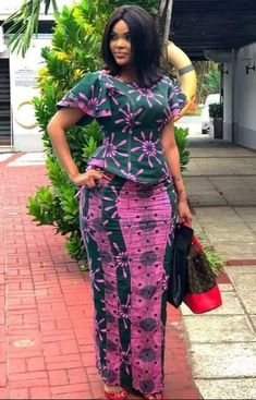 2019 African Fashion Ankara Skirt and Blouse Styles for Wedding Short African Dresses, Latest African Fashion Dresses, African Print Dresses, African Print Fashion, Africa Fashion, Ankara Rock, Ankara Skirt And Blouse, African Traditional Dresses, African Attire