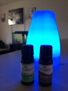 First timer with my diffuser! What better to use than 3 coffee / 1 peppermint!? #iloveplanttherapy