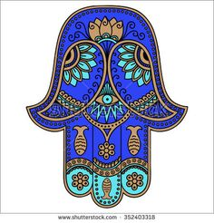 Find Color Hamsa Hand Drawn Symbol Decorative stock images in HD and millions of other royalty-free stock photos, illustrations and vectors in the Shutterstock collection. Hand Tattoos, Hamsa Hand Tattoo, Hamsa Art, Hamsa Design, Spiritual Images, Spiritual Symbols, Tatouage Hamsa, Symbole Protection, Henna Drawings