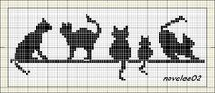 loads of free patterns  cat cross stitch chart