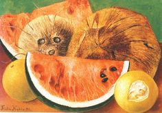 Coconuts, Cocos, Frida Kahlo, c0591 In the last years of Frida's life she painted mostly small scale still life paintings. Earlier Her still life paintings of the 1930s and 1940s Were riddled With imbedded sexual overtones ...