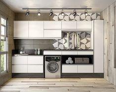 Outdoor Laundry Rooms, Lavatory Design, Welcome To My House, Ideas Para Organizar, Laundry Room Design, Garage Storage, Apartment Design, Modern Interior Design, Home Renovation