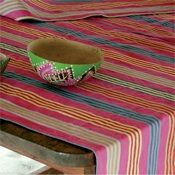 Love the color!!!  The Art of the Table: South American Linen, and Tunes - Saveur.com