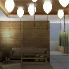 Postmodern LED Chandelier Nordic Living Room Suspended Lighting Home F – Raypom Bedroom Balcony, Bedroom Ceiling, Bedroom Lighting, Home Lighting, Balloon Ceiling, Ceiling Lamp, Ceiling Lights, Lampe Ballon, Led Pendant Lights