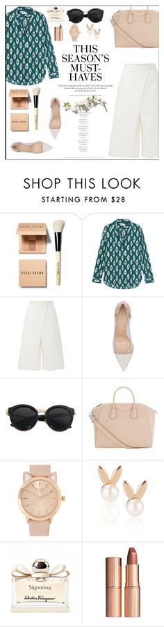 """""""..."""" by margarita-m-a ❤ liked on Polyvore featuring Bobbi Brown Cosmetics, Equipment, TIBI, Gianvito Rossi, Givenchy, H&M, Aamaya by Priyanka, Salvatore Ferragamo and Charlotte Tilbury"""
