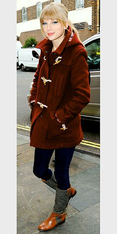 Maroon toggle coat