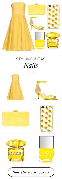 """Untitled #11"" by asha-stevens on Polyvore featuring Nine West, Edie Parker, Casetify, Alexander McQueen, Nails Inc. and Versace"