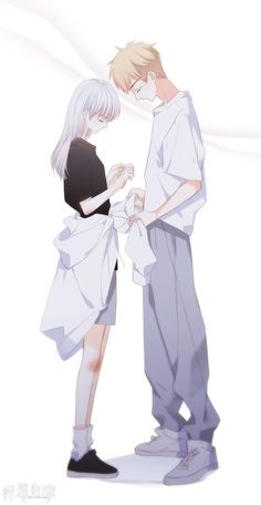 I don't like another male see my honey bunny's skin. So I cover it up by my jacket. Don't you dare to take it off . Anime Couples Drawings, Anime Couples Manga, Cute Anime Couples, Anime Couple Kiss, Anime Kiss, Anime Cupples, Anime Chibi, Cover Wattpad, Anime Siblings