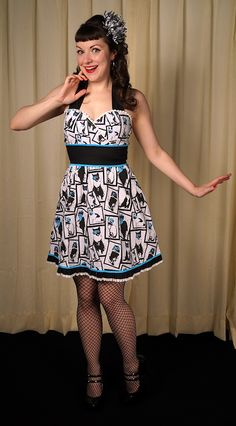 Sourpuss Clothing Cats In Disguise Ada Dress