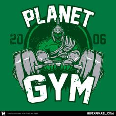 ''Planet Gym'' by Soulkr available today only, 11/03/17, at RIPT Apparel