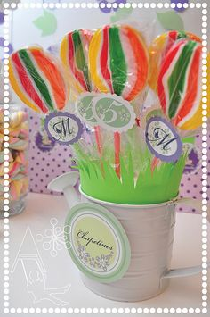 Tinkerbell inspired-Chupetines-Lollipops