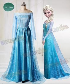 Disney Cosplay Disney Frozen ( Movie) Cosplay, Elsa Costume Adult Women Outfit - Made by organdy Robes Disney, Disney Costumes, Adult Costumes, Halloween Costumes, Blue Costumes, Mermaid Costumes, Couple Costumes, Couple Halloween, Disney Cosplay