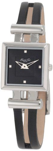 Kenneth Cole New York Women's KC2414-NY Trend Black Leather Watch $41.80