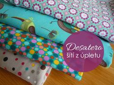 Úplety - Jak se v nich vyznat. Sewing Hacks, Sewing Crafts, Textiles, Couture, Sewing Clothes, Crochet, Diy And Crafts, Sewing Patterns, Projects To Try