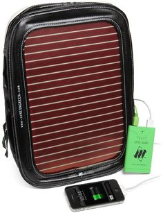 back pack with solar power