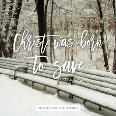Good Christians, now rejoice / With heart and soul and voice / Now you need not fear the grave / Jesus Christ was born to save!