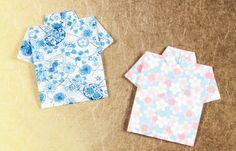 折り方簡単!折り紙・和紙でアロハシャツのポチ袋の作り方(おりがみ) | ぬくもり