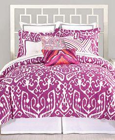 Trina Turk Bedding, Ikat Purple King Duvet Cover Set - Duvet Covers - Bed & Bath - Macy's Bridal and Wedding Registry