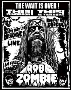 t-shirt / poster art Rob Zombie Art, Zombie Zombie, Zombie Decorations, Sheri Moon Zombie, Super Coloring Pages, Tour Posters, Band Posters, Music Posters, White Zombie