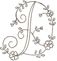 bordar letras a mano ile ilgili görsel sonucu Embroidery Alphabet, Embroidery Monogram, Ribbon Embroidery, Floral Embroidery, Needlepoint Patterns, Hand Embroidery Patterns, Vintage Embroidery, How To Embroider Letters, Floral Font