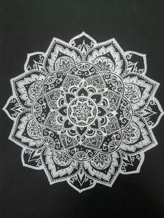 Beautiful black and white mandala art.