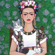 Frida cat lover