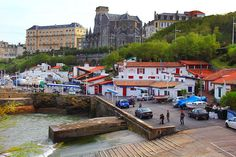 Biarritz Southern France, Atlantic Coast fishing port and seafood restaurants