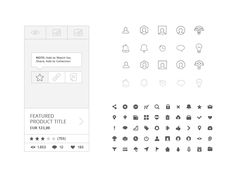 Free 230 Wireframe Icons by spovv