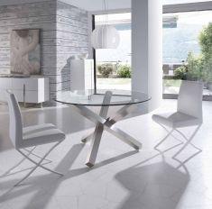 Mesas de Comedor de Acero y Cristal : Modelo BZ951