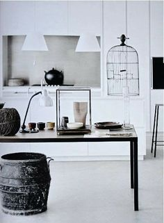 Black and white interiors!