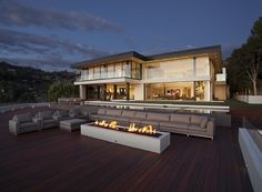 Sunset Strip by McClean Design  love the outdoor fireplace