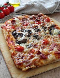 Pizza focaccia in teglia senza glutine, alta , morbida e super condita Focaccia pizza in a gluten-free pan, high, soft and super seasoned. A mouth-watering pizza in a pan that has nothing to env Gluten Free Cereal, Gluten Free Rice, Gluten Free Pizza, Lactose Free, Gluten Free Cupcakes, Gluten Free Muffins, Cooking Chef, Cooking Recipes, Focaccia Pizza