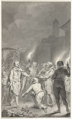 Karel V ontvangt de sleutels van de poorten en de roede van justitie van Utrecht, Jacobus Buys, 1787 - 1789