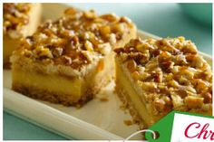 Praline Crumb Caramel Cheesecake Bar