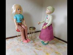 Dollhouse Miniature Trash to Treasure Bar Stools - YouTube