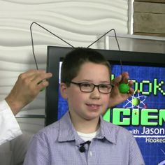 """You might use a hanger to hang your clothes in the closet. Jason Lindsey aka """"Mr. Science"""" with Hooked on Science and a kid scientist show us how a hanger can help us discover the science behind inertia. Go to http://hookedonscience.org/nextgenerationsciencestandards.html for the FREE NGSS experiment guide."""