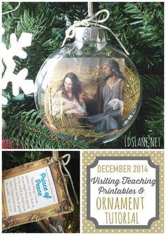 December 2014 VT Message Printables and/or Ornament Tutorial - ldslane.net